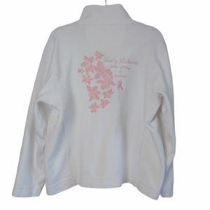 Tommy Bahama Breast Cancer Sweatshirt White XL